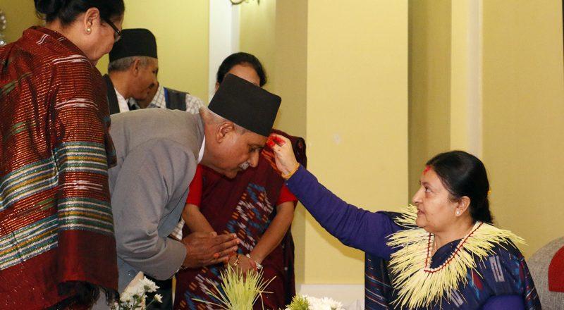 राष्ट्रपति, उपराष्ट्रपति, प्रधानमन्त्री र पूर्वराजाको टीका कार्यक्रम स्थगित