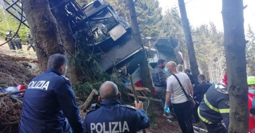 इटलीमा केबल कार दुर्घटना, आठ जनाको मृत्यु