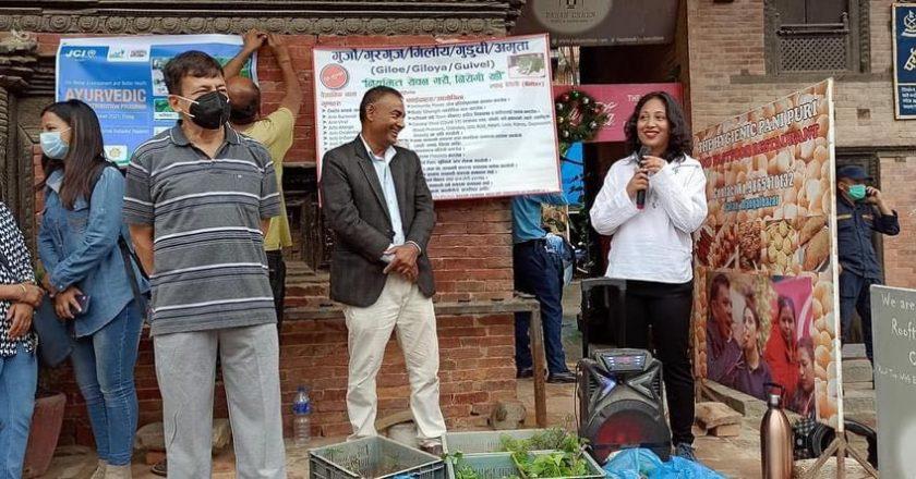 नेपाल जेसीजको ५७ औं वार्षिकोत्सवमा एसडिजी कमिटिद्वारा आयुर्वेदिक बिरुवा वितरण